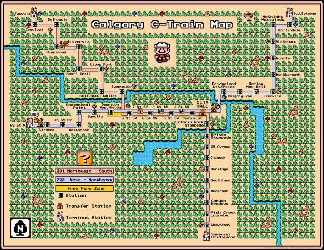 Calgary C-Train Map 2013