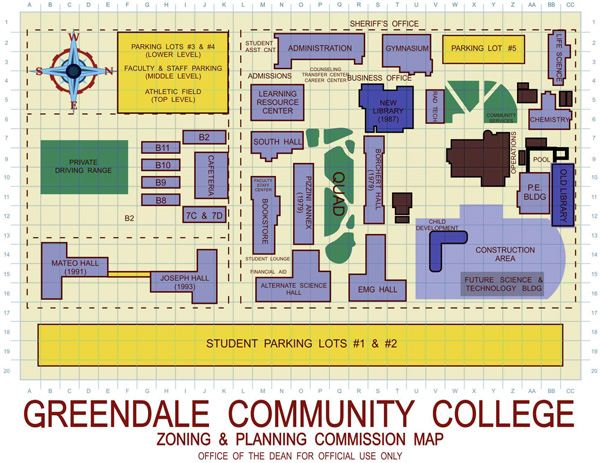 Community College Map poster by davesgeekyideas