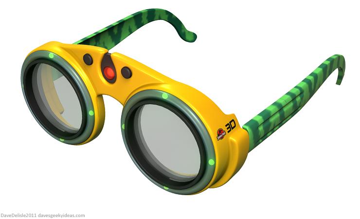 jurassic park 3D glasses design by Dave Delisle 2011 davesgeekyideas