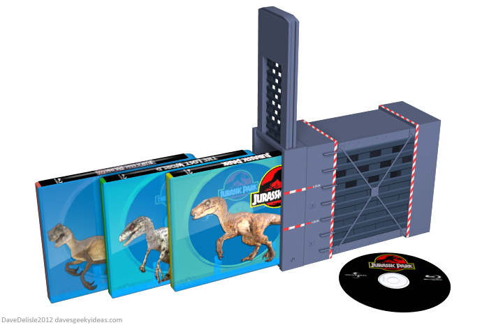 Jurassic Park blu-ray case set design by Dave's Geeky Ideas