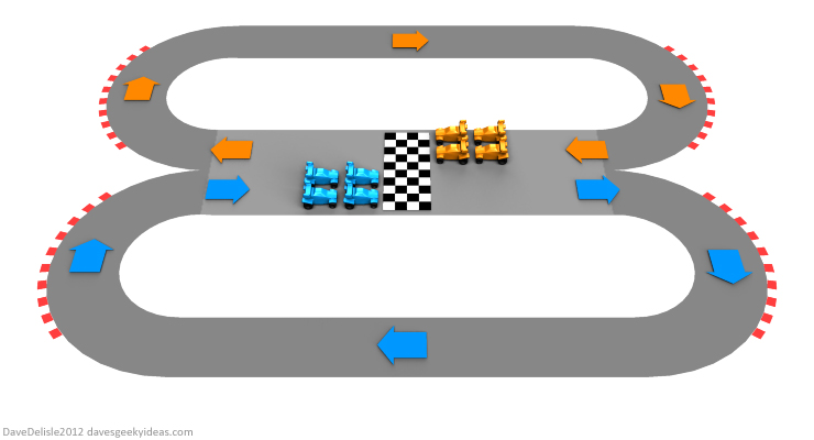 Racing Track design by Dave Delisle