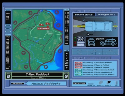 Jurassic Park Fences Map Screen