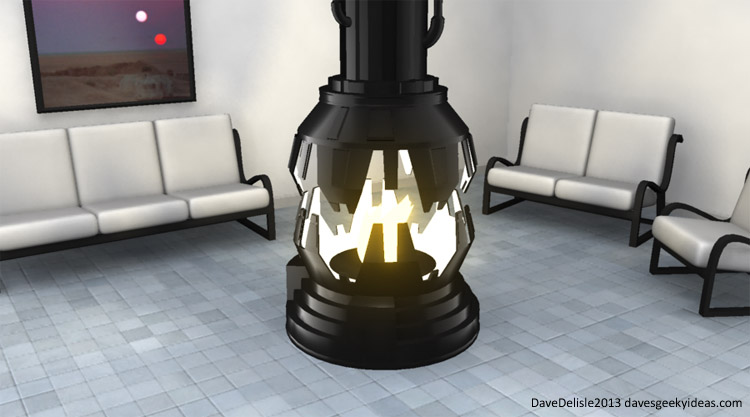 Star Wars Fireplace Darth Vader Meditiation Chamber Dave Delisle davesgeekyideas