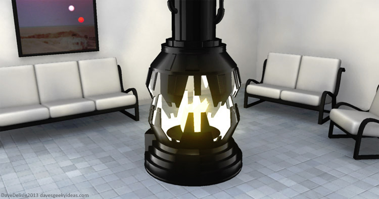 Darth Vader fireplace by davesgeekyideas