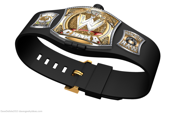 WWE wrestling championship belt watch design 2013 dave delisle davesgeekyideas dave's geeky ideas