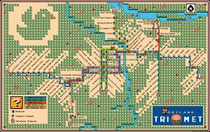 Super Mario 3 Train Map Portland Trimet Max Wes LRT Map 2013 -Dave Delisle davesgeekyideas.com Portlandia