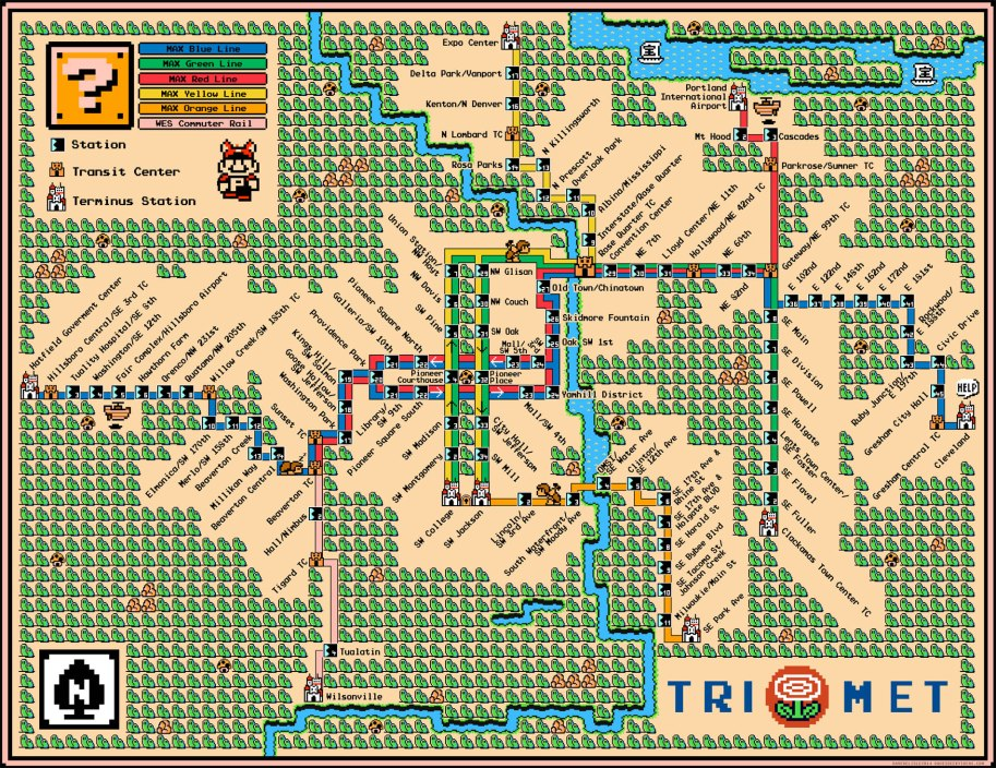 Portland Trimet Max LRT Map 2015 Orange Line