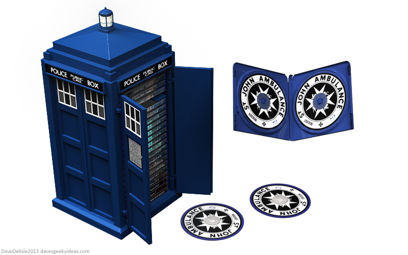 Tardis Blu-Ray Case by davesgeekyideas