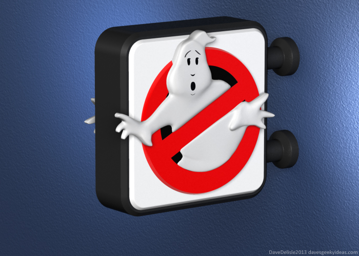 Ghostbusters sign nite lite nightlight design 2013 dave delisle davesgeekyideas