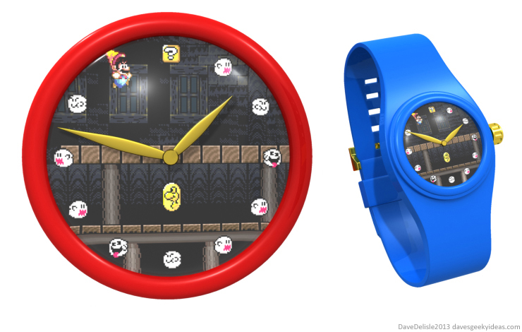 Super Mario World watch clock by Dave Delisle davesgeekyideas dave's geeky ideas