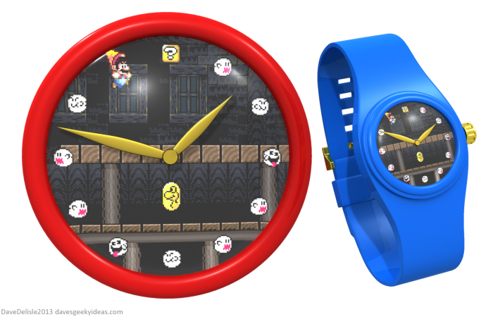 Super Mario World watch clock by Dave Delisle