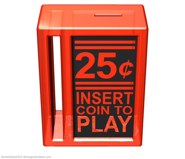 insert coin piggy bank design by Dave Delisle davesgeekyideas