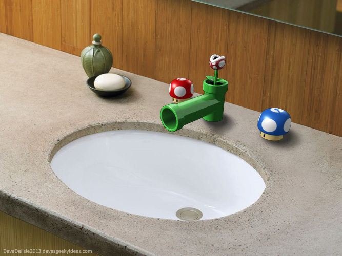 Super Mario Bathroom Sink Fixtures Dave S Geeky Ideas