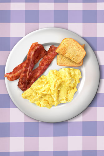 Ron Swanson Breakfast Poster Bacon And Eggs