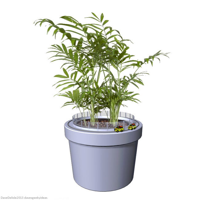 Jurassic Park pot plant by davesgeekyideas