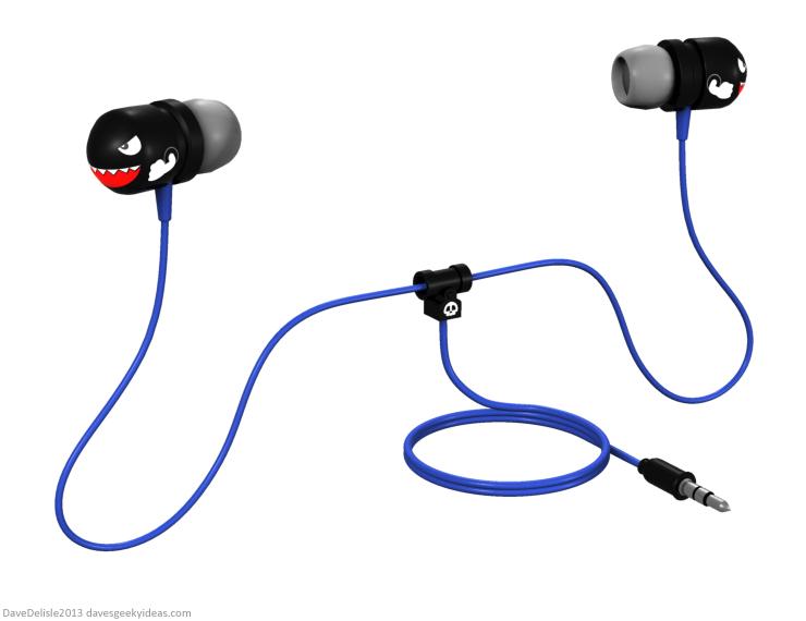 Bullet Bill Nintendo earbud design 2013 dave delisle davesgeekyideas