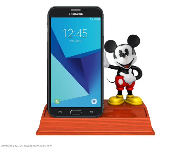 Mickey Mouse smartphone cradle design by Dave Delisle davesgeekyideas 2014