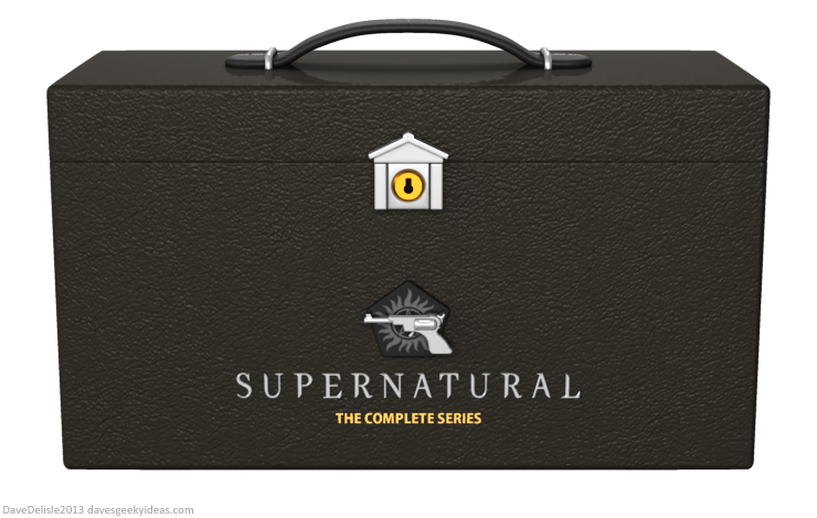 Supernatural Blu-Ray box set design 2014 Dave Delisle davesgeekyideas dave's geeky ideas