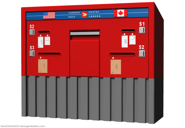 Canada Post mailbox design by Dave Delisle