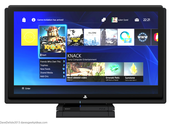 PS4 LCD TV Sony 2013 Dave Delisle