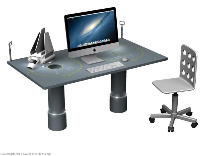 Star Wars desk by Dave's Geeky Ideas