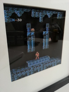 Metroid diorama papercraft