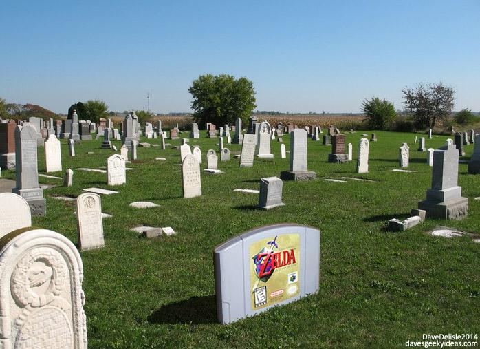 Zelda Gravestone Graveyard Cemetery