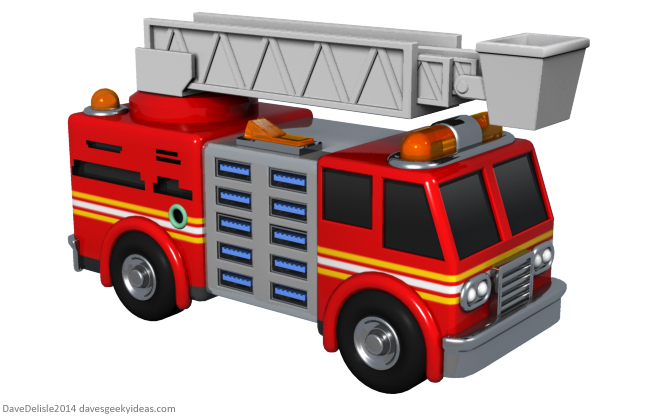 Firetruck USB toy by Dave Delisle