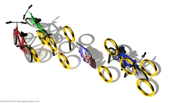 Sonic The Hedgehog Bike Rack
