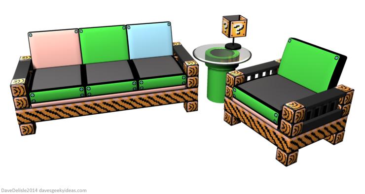Superb Super Mario Furniture Daves Geeky Ideas 2014 Dave