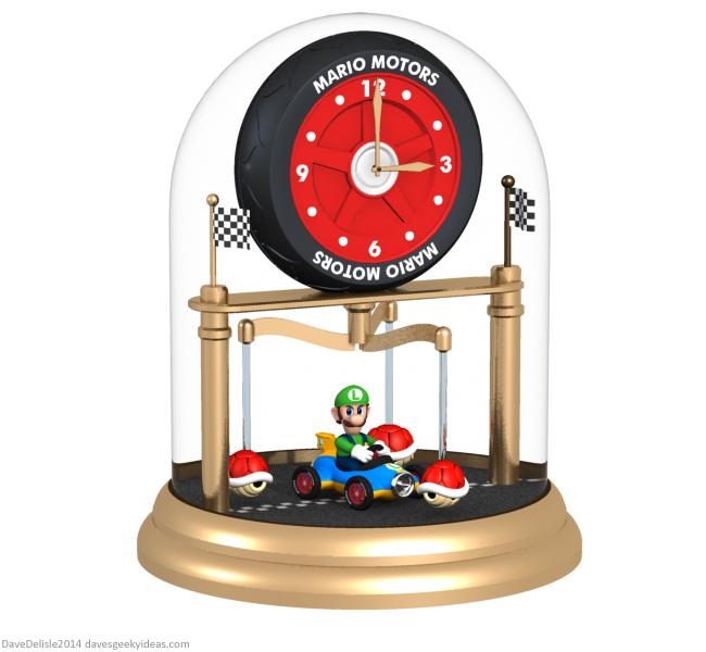 Mario Kart clock design by Dave Delisle davesgeekyideas