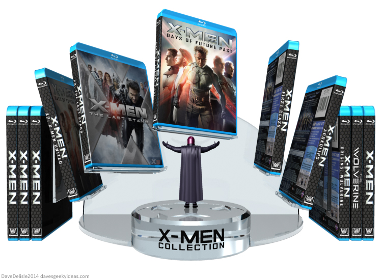 X-Men blu-ray collection stand design by Dave Delisle davesgeekyideas