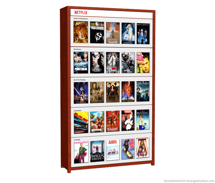 Netflix Blu-Ray Library Shelf