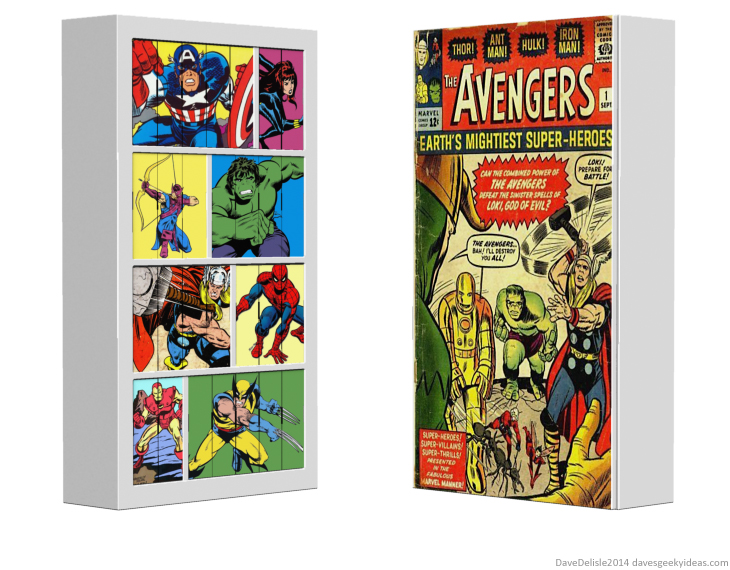 Comic Book shelves display design by Dave Delisle 2014 davesgeekyideas Dave's Geeky Ideas