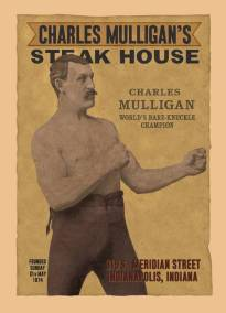 Charlie Mulligans Steak House Poster by Dave Delisle