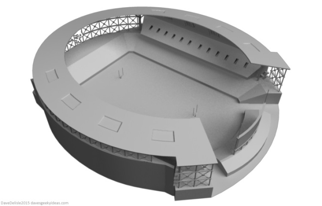 Horse Shoe Football Stadium by davesgeekyideas