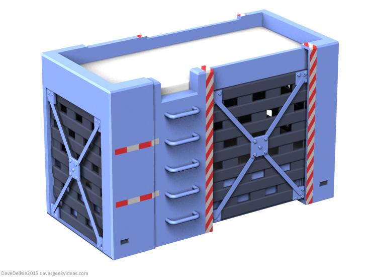 Jurassic Park raptor cage bunk bed design by Dave Delisle