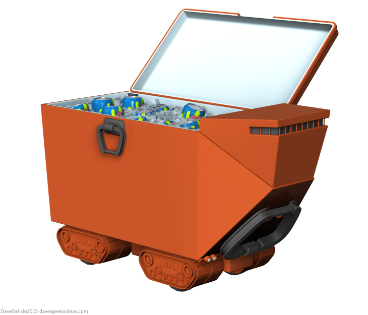 Star Wars sandcrawler beach cooler design by Dave Delisle 2015 dave's geeky ideas davesgeekyideas