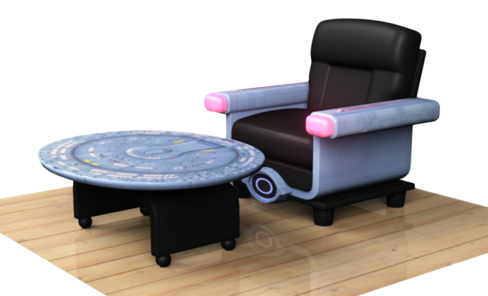 Star Trek Desk By Davesgeekyideas. Also It Was A Chair And Coffee Table ...