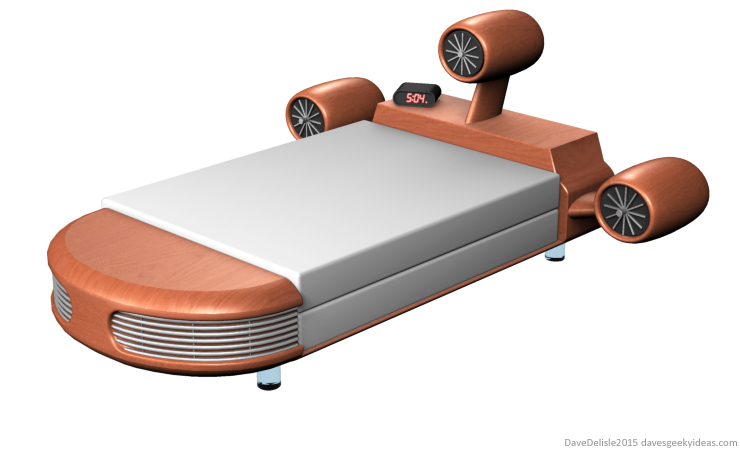 Floating bed landspeeder star wars design by Dave Delisle 2015 davesgeekyideas Dave's Geeky Ideas