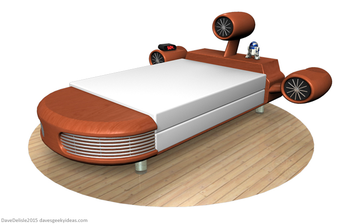 Star Wars Landspeeder Bed by davesgeekyideas