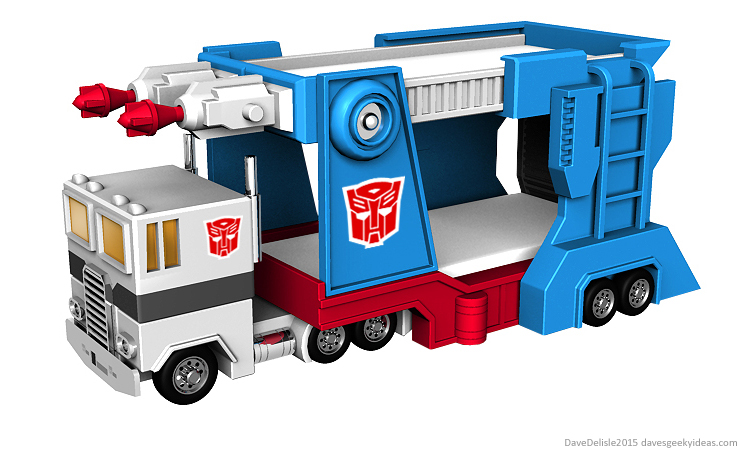 Transformers Bunk Bed design by Dave Delisle davesgeekyideas