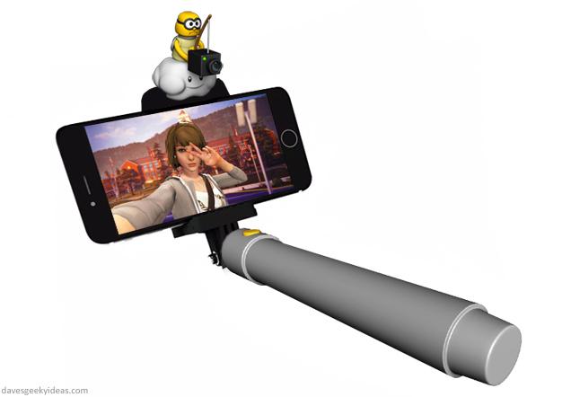 Super Mario Selfie Stick by davesgeekyideas