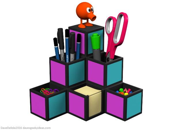 Office Toys For Geeks : Q bert desk organizer dave s geeky ideas