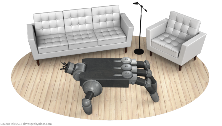 Iron Giant coffee table by Dave Delisle