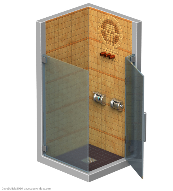Mad Max Fury Road shower cabinet by Dave Delisle dave's geeky ideas