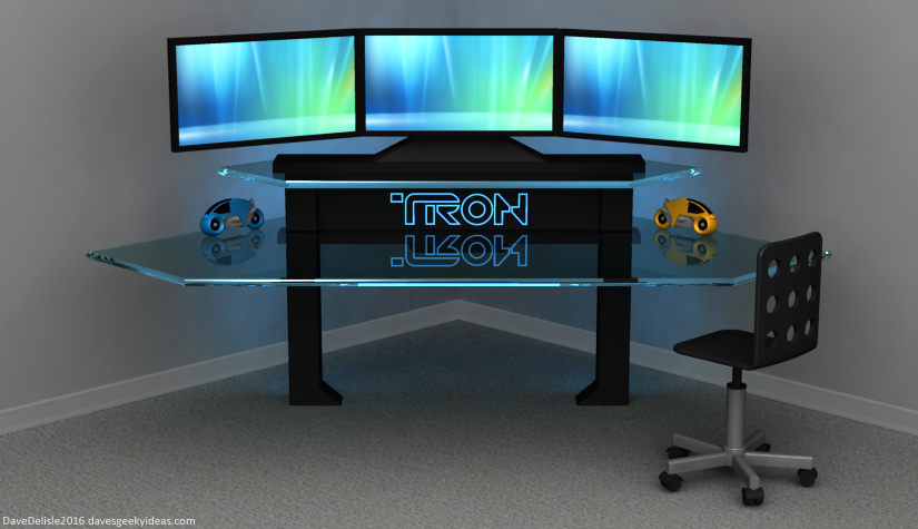 Tron Gaming Desk Dave 39 S Geeky Ideas