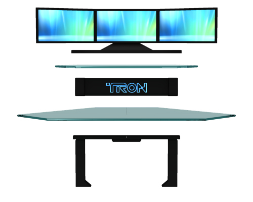 Tron Gaming Desk by Dave Delisle