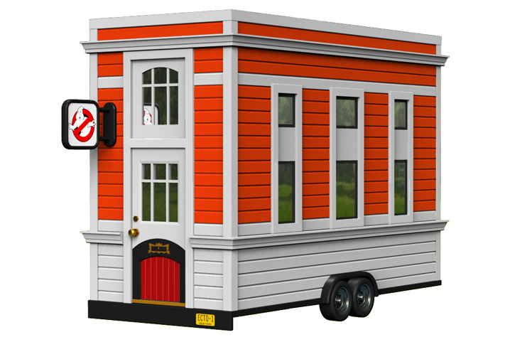 Ghostbusters Tiny House Firehouse by Dave Delisle