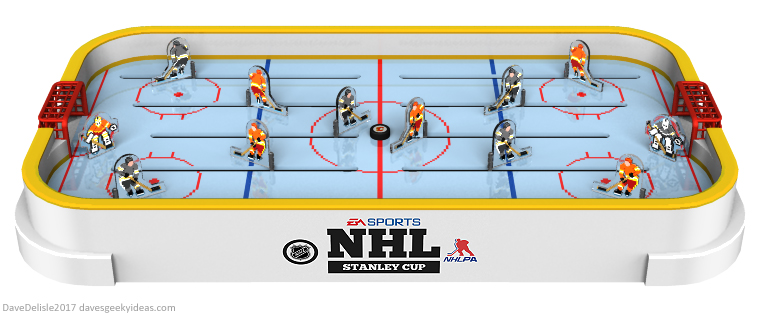 NHL 94 table hockey by Dave Delisle 2017